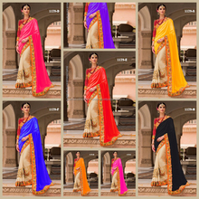 Indian Party Wear Embroidered Saree