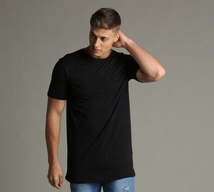 China Apparel Wholesale Men Clothing Blank High Quality Black Longline Tall Men's Cotton t shirts