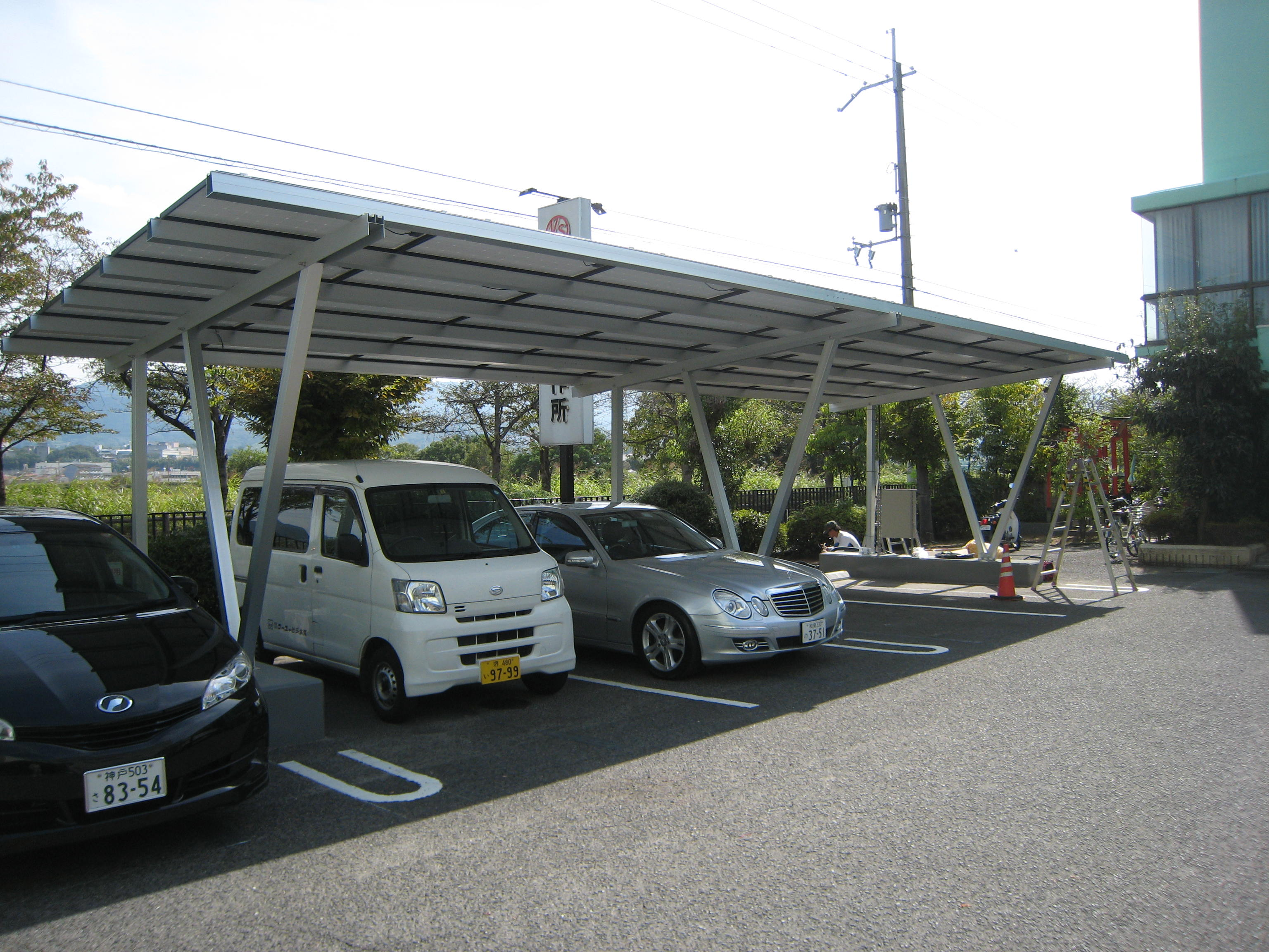 carport mounting for solar panels install