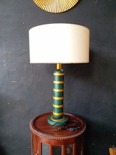 Sturdy modern corner table lamp