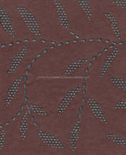dew drop printed handmade papers in sheet size of 56*76 cm in dark brown color with leaf dew print can be custom cut in sizes