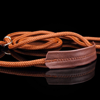 Leash for dog show, dog show leather + twine