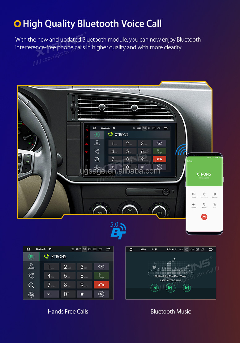 "XTRONS universal 7"" 1024X600 octa core 4G RAM/32GROM oreo android Car audio Player"