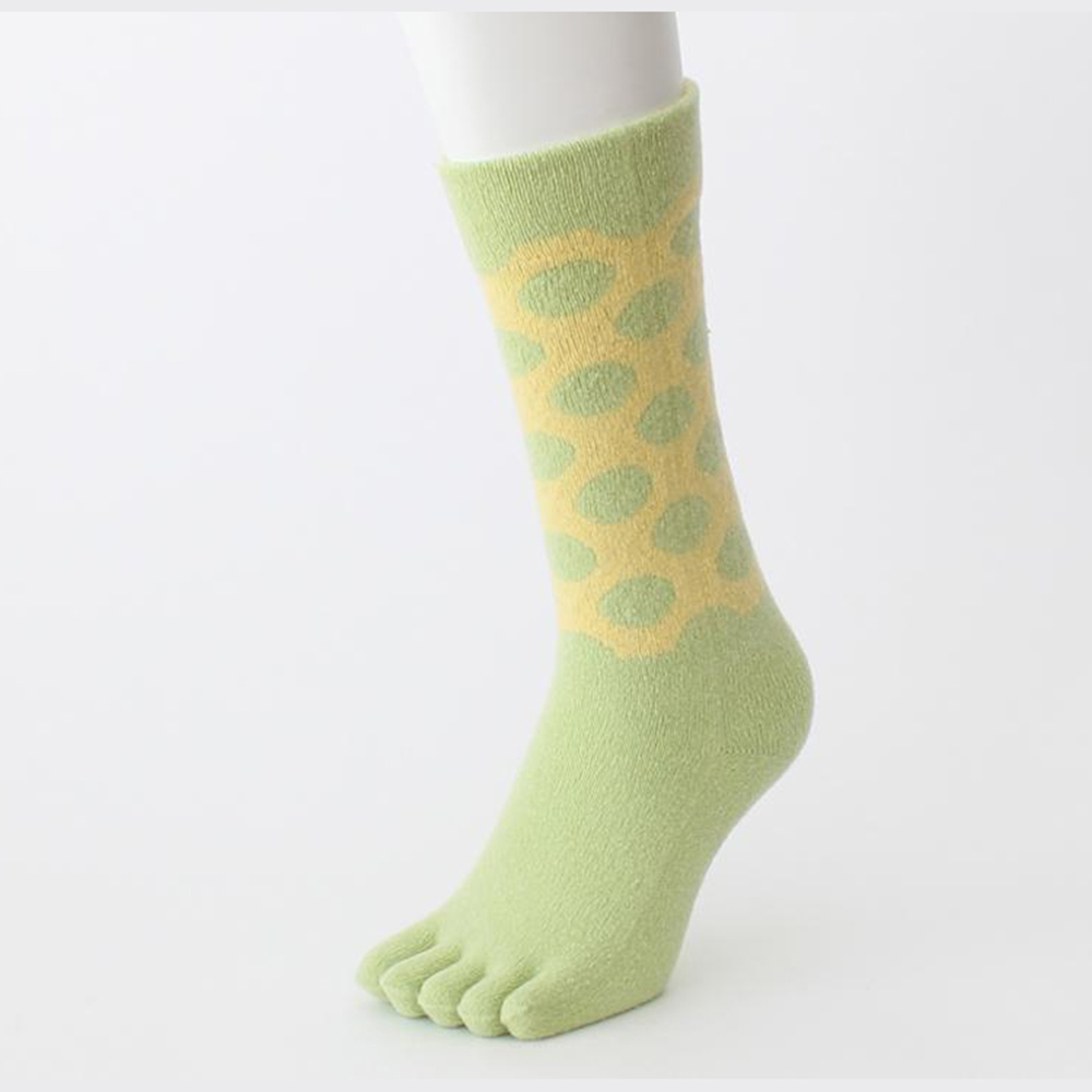 Polyurethane Eco-Friendly Breathable Winter Green Socks with Good Quality