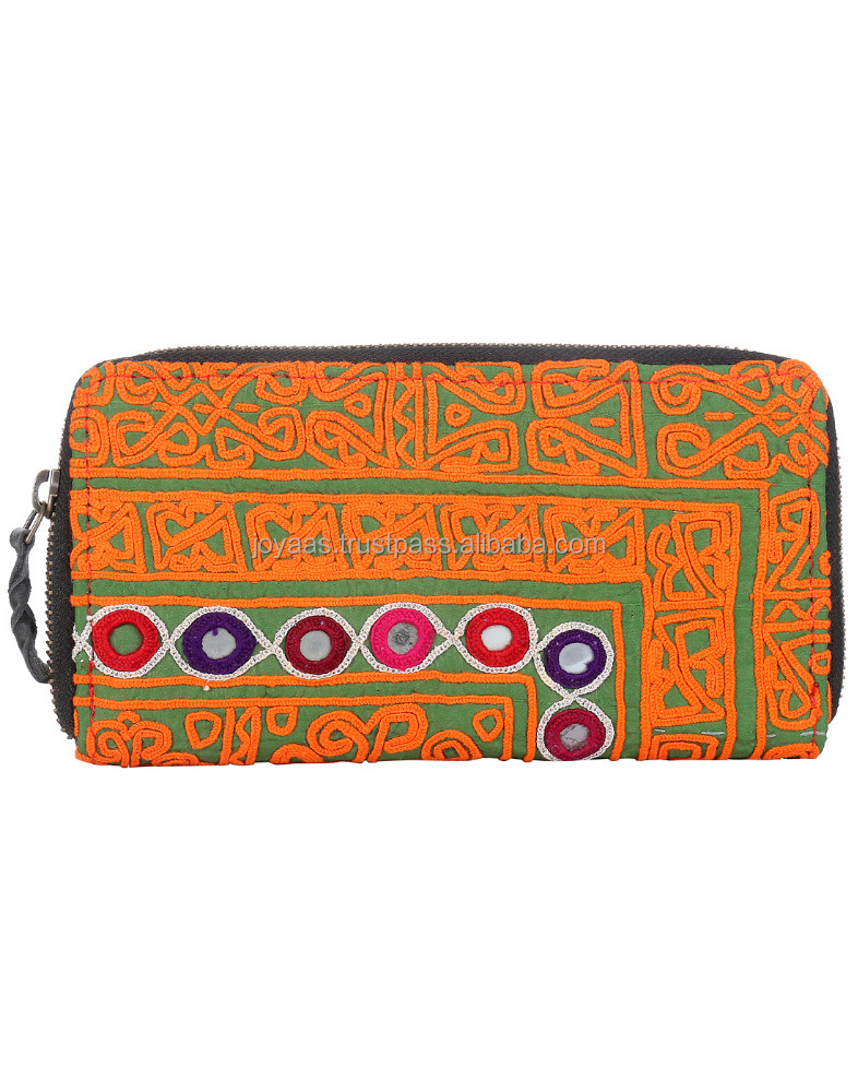 New Jaipur Style Tote Bags Trible Handmade Mirror Embroidered Ladies Clutch Bag