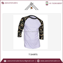 Wholesale Hot Sale New Arrival with Custom Logo Raglan Sleeve T Shirt Made In India