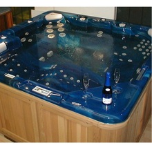 One person hot tub/6 person hot tub high quality oxygen integrated outdoor spa