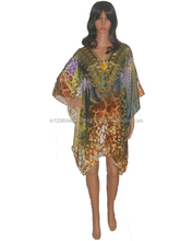 Stylish Embellished Knee Length Kaftan