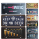 Custom advertising cold beer sign metal bar wall hanging decoration metal sign