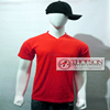 Red Cotton V-Neck men's T-Shirts