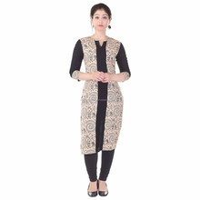 Black Georgette churidar suit with kashmiri embroidery