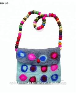 100% felted woolen bags/ stylish ladies felt bags/ New design handbags for ladies