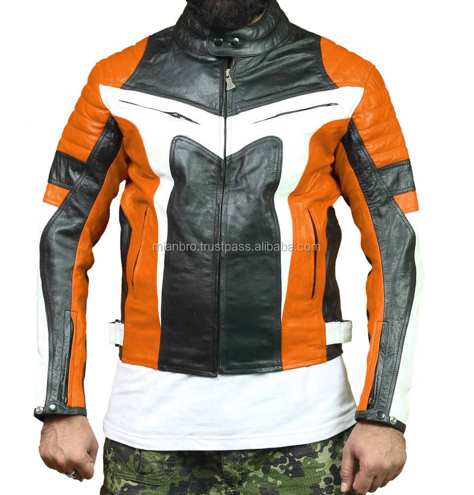 Personalized Leather Motorcycle Racing Jackets with Separate Racing Protection Jacket