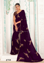 Designer Saree heavy Wedding Saree Ceremony Saree Embellished with designer blouse material