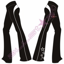 Reflected Ballroom Dance Design Custom Transparent Pajama Casual Pants Long Wide Leg Pants Trousers Women