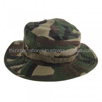 Military Army Bush Jungle Camo Boonie Bucket Cap Hat