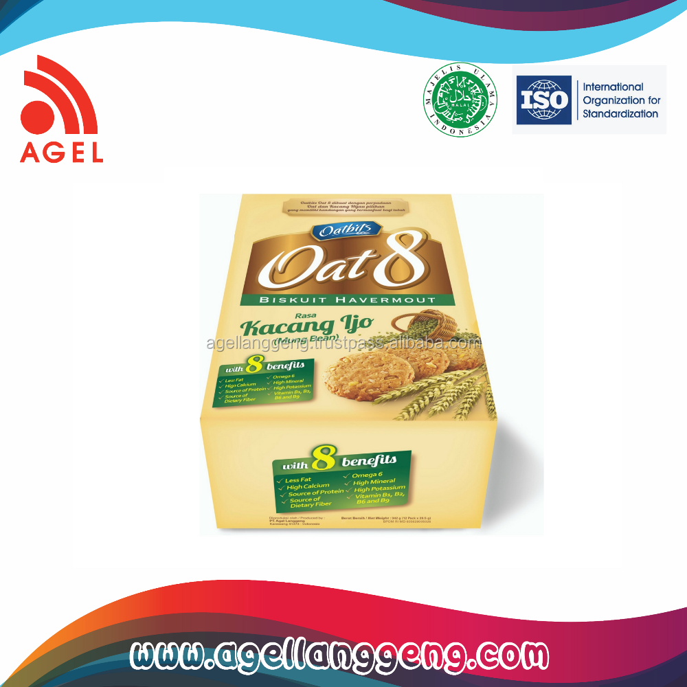 Premium healthy Biscuit Made From oat with special Almond Flavour on Box Packaging