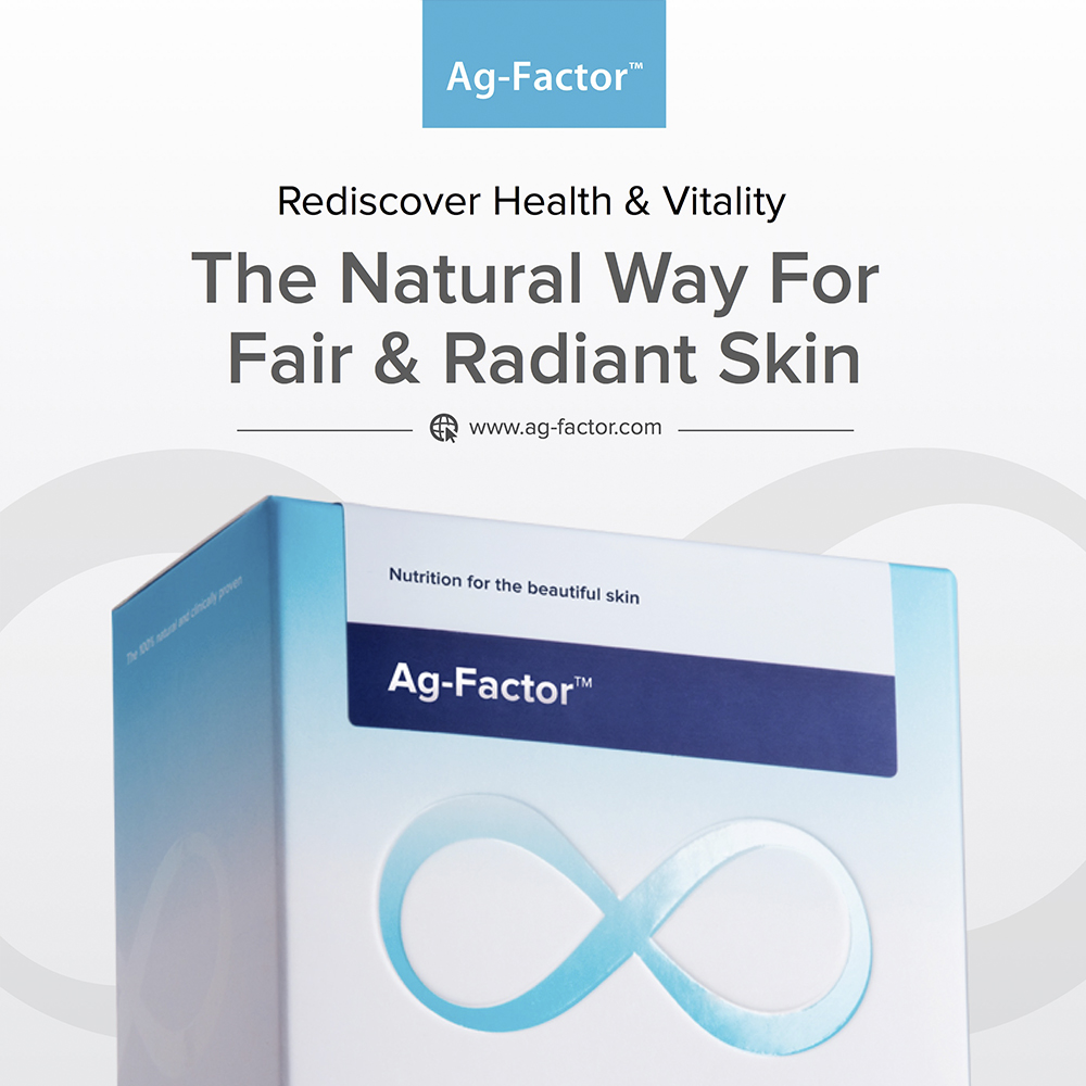Ag-Factor: Anti-Aging Skin Whitening Beauty Supplement