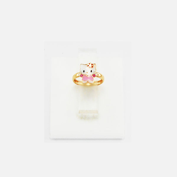 Hello Kitty Gold Rings Without Stones for Girls Wear