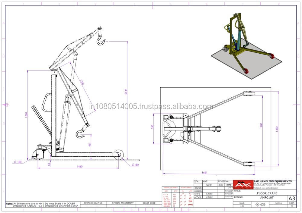 Manual Floor Crane-Light Duty