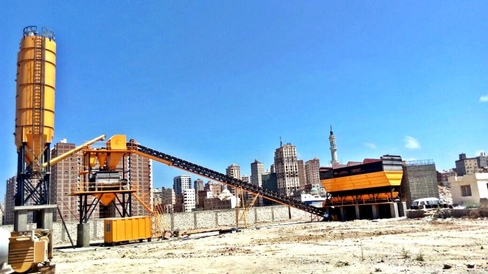 Ready Mix Cement Concrete Bathing Twinshaft Mixing Plant 120m3/h