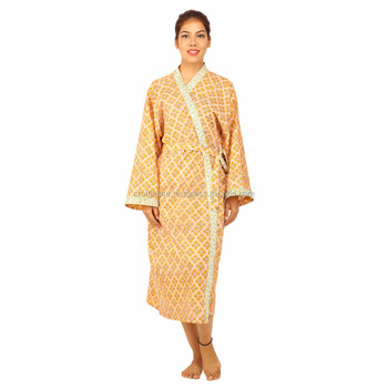 Wholesale super soft kaftan breathable cotton bathrobe for home/hotel