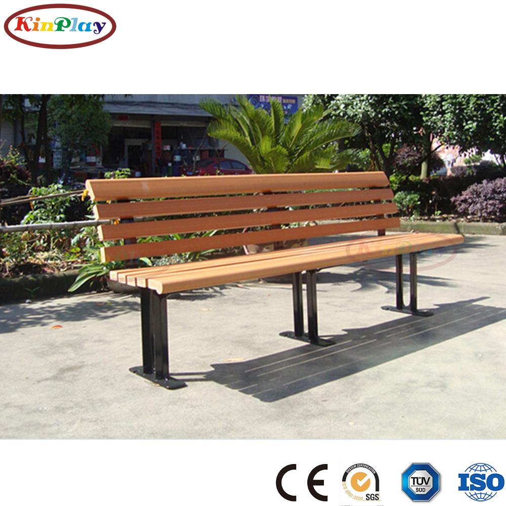 KINPLAY brand  metal feet plastic wooden outdoor garden chair