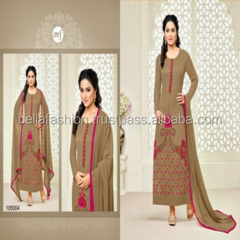 Latest Indian Wedding and Party Wear Embroidery Designer Straight Suits
