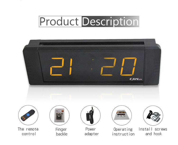 "[GANXIN]1"" 4 Digits Low Voltage Small Led Digital Clock Stopwatch Function Usb Interface"
