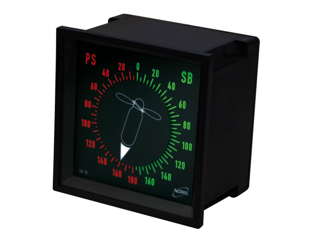Analog indicator NIQ31 / gauge / instruments / rudder angle or pitch / 360deg / ship marine approval / stepper motor