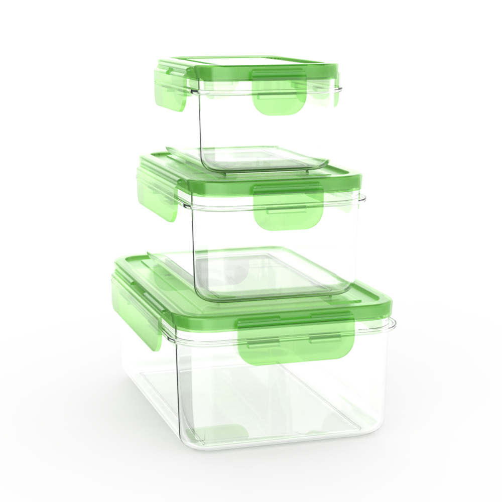 Plastic Superlock 3 stacking with seal so airtight and safe for storage food