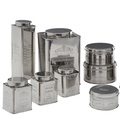 Stainless steel Tea Canister | White Tea Box | Decorative Coffee Caddy | Metal Tea Caddies | Kitchen Spice Storage in SIlver