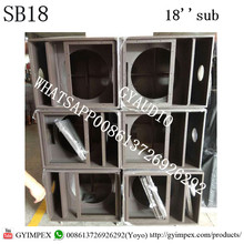 active spider box 18 inch china plywood factory empty stage speakers subwoofer