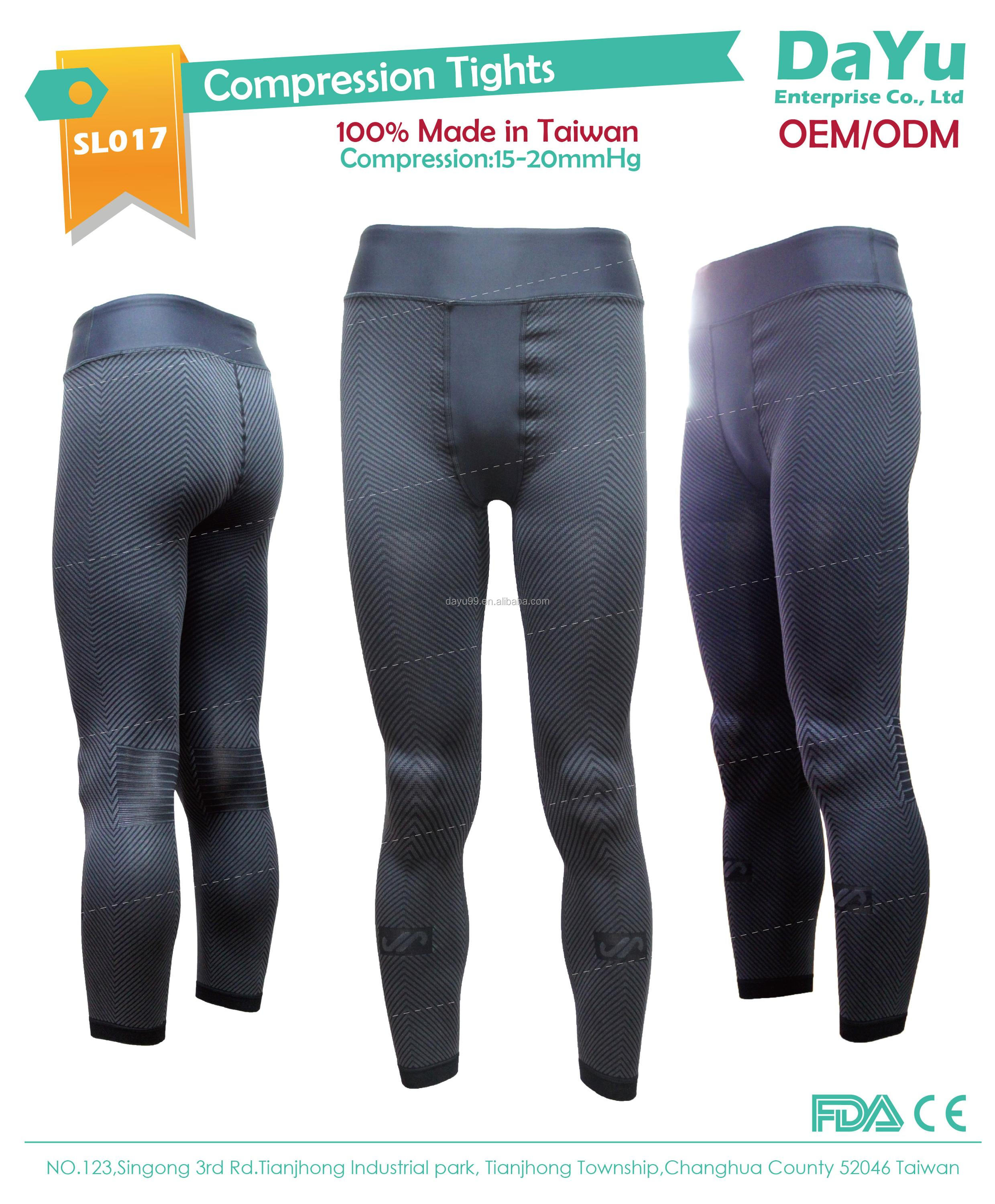 Graduated Compression Tights Fitness leggings Seamless Knitting OEM/ODM Made in Taiwan