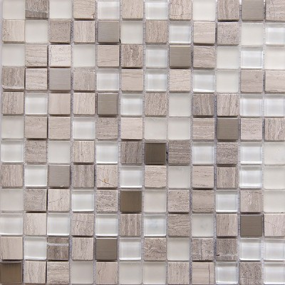 8Mm Glass And Metal Mosaic Tile Candy Glass Mosaic