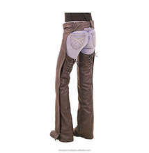 Ladies Black Leather Chaps