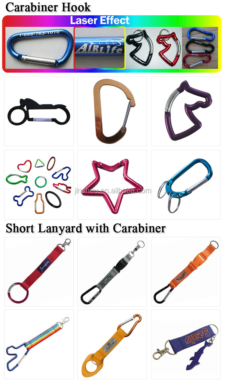 Bulk Promotion Custom Rubber Logo Key Chain Climbing Carabiner Wholesale