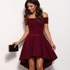 Off Shoulder Casual Mini dress For women Clothing Wholesale Prom Wedding Shorts Sexy Wearing Fashion Latest Style OEM Xs-15XL
