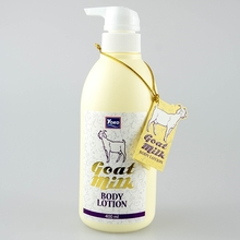 Premium Thai Goat Milk Body Lotion for moisturizing and whitening skin