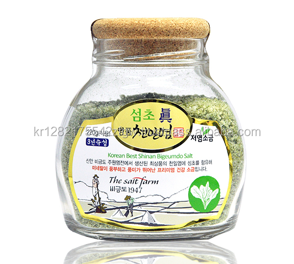 High Quality natural Summer Sunshine Premium 220g Spinach Sea Salt