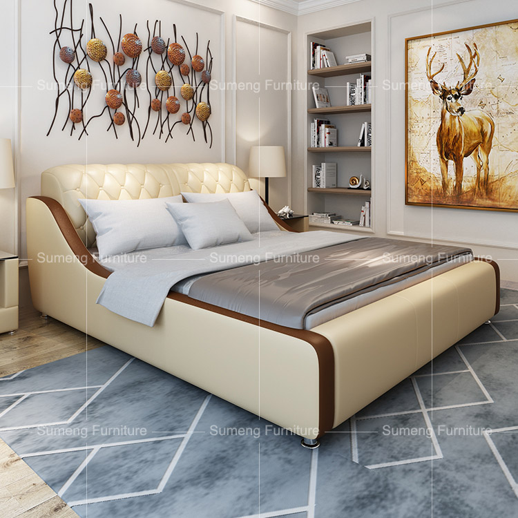 modern leather hotel bedroom furniture