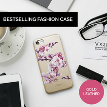 Best Selling Cell Phone Real Genuine PU Leather Back Cover Case for iPhone X 8 Plus with Floral Printing Wholesale