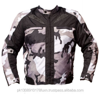 Grey Camouflage CE Armoured Waterproof Motorbike Armoured Jacket Motorcycle Waterproof Coat All Weather CE Approved