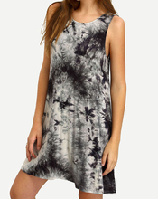 Crew Neck Tie-dye Casual Dress for girls