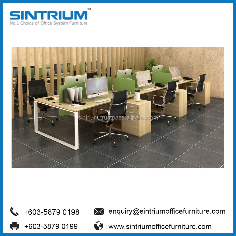 High Quality Malaysia Office Furniture WorkStation/work station For 6 Person