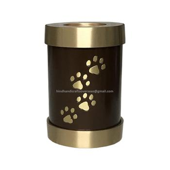 Brass paw pet Tealight cremation ash urns for ashes