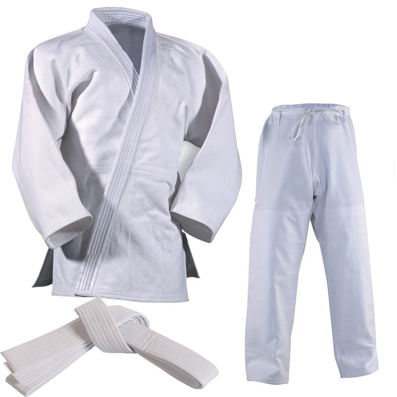 Adults Student Judo Gi Suit - 450 GSM 100% cotton White - Uniform Gi Training