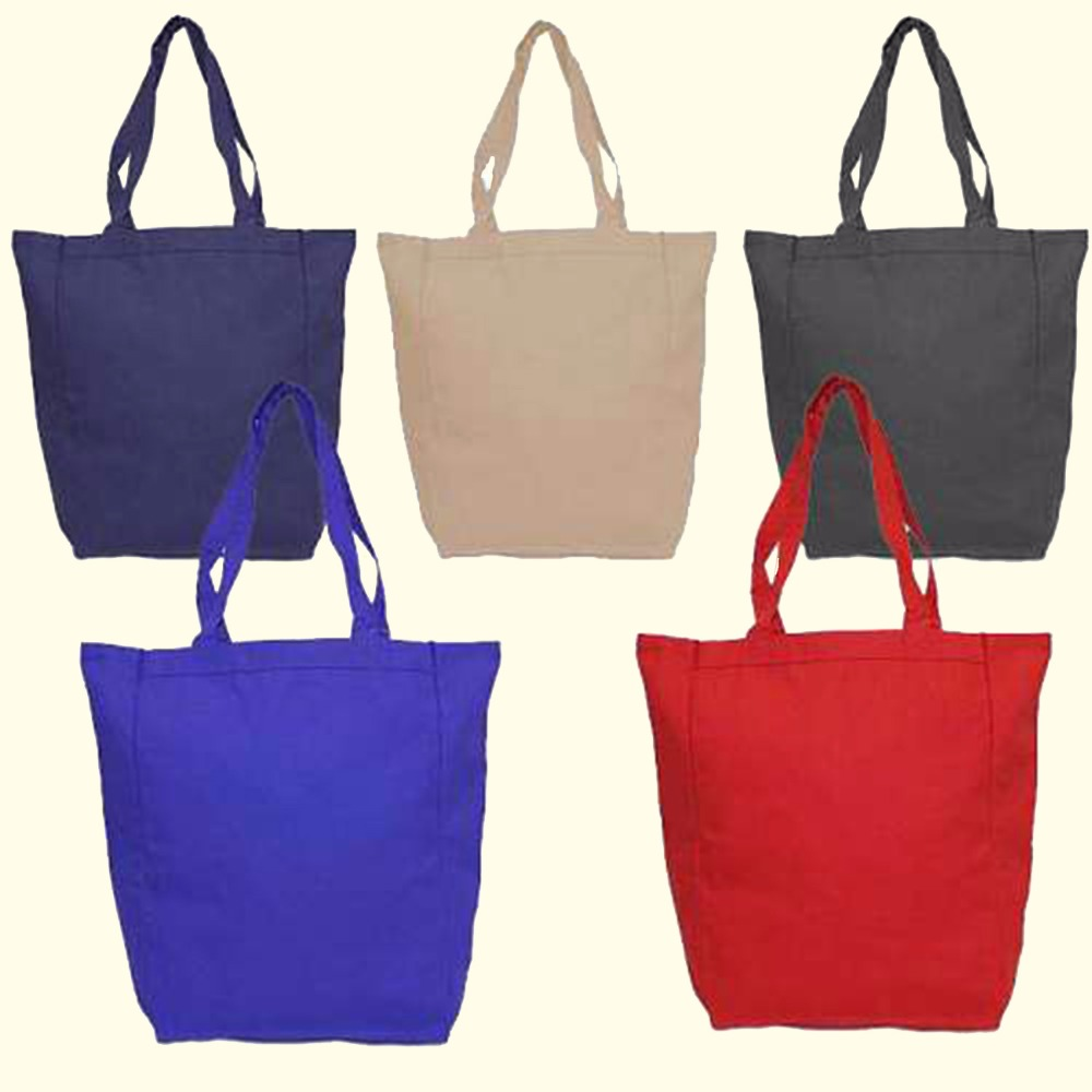 100% 10 oz cotton canvas small cotton grocery seed bag made in Pakistan