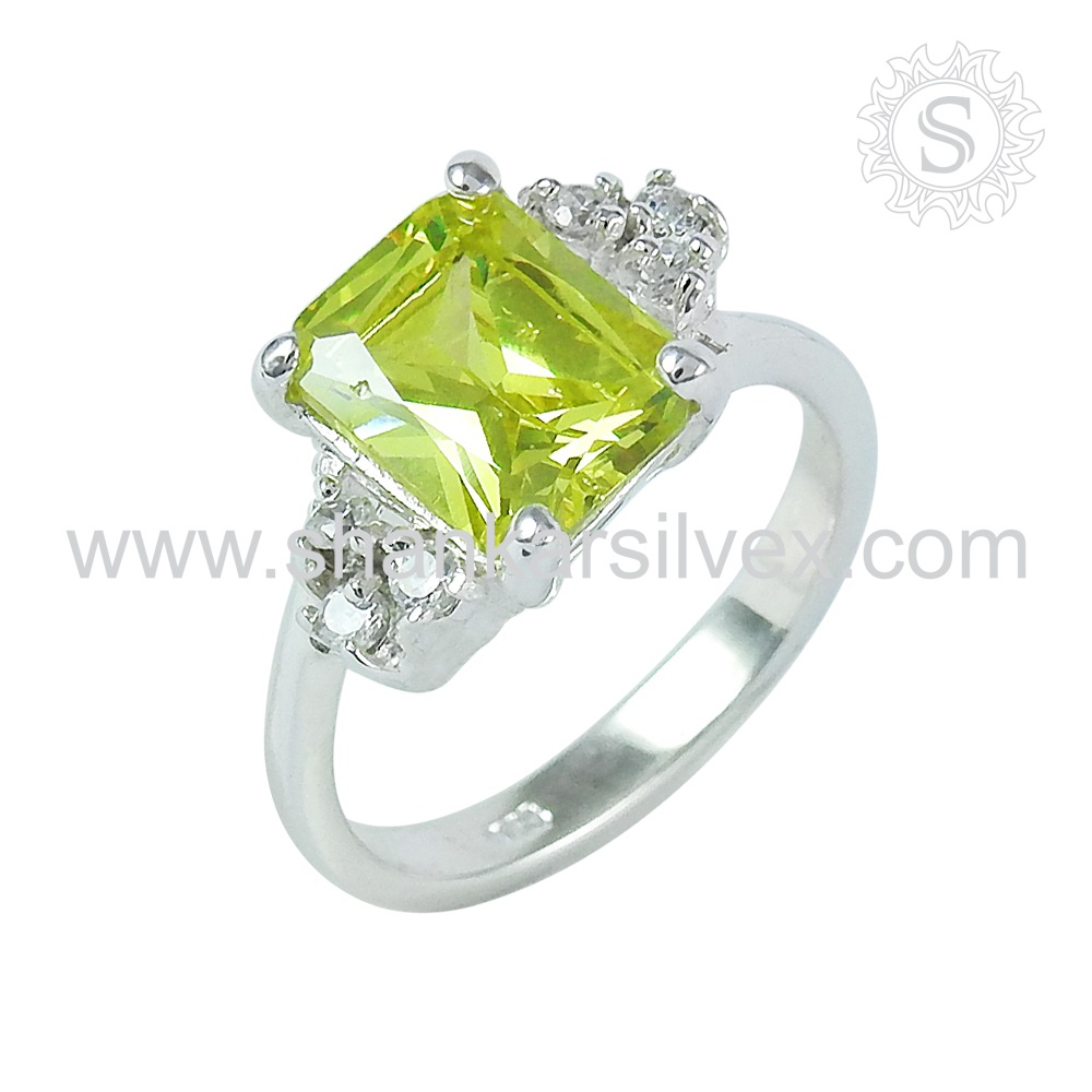 Girls accessorise silver rings 925 sterling silver multi stone ring jewelry jaipur wholesale exporter