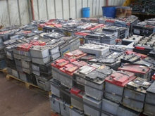 USED Waste Auto, Car and Truck battery, Drained lead battery scrap